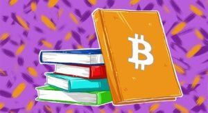 Книги. На одной символ bitcoin
