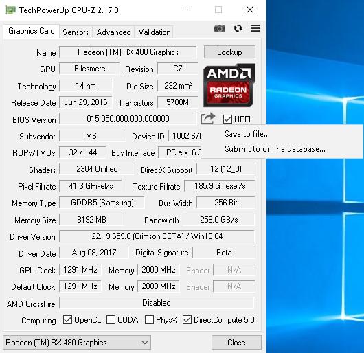GPU-Z сохранение BIOS