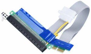 Riser PCI-E x1 - 16x с дополнительным питанием