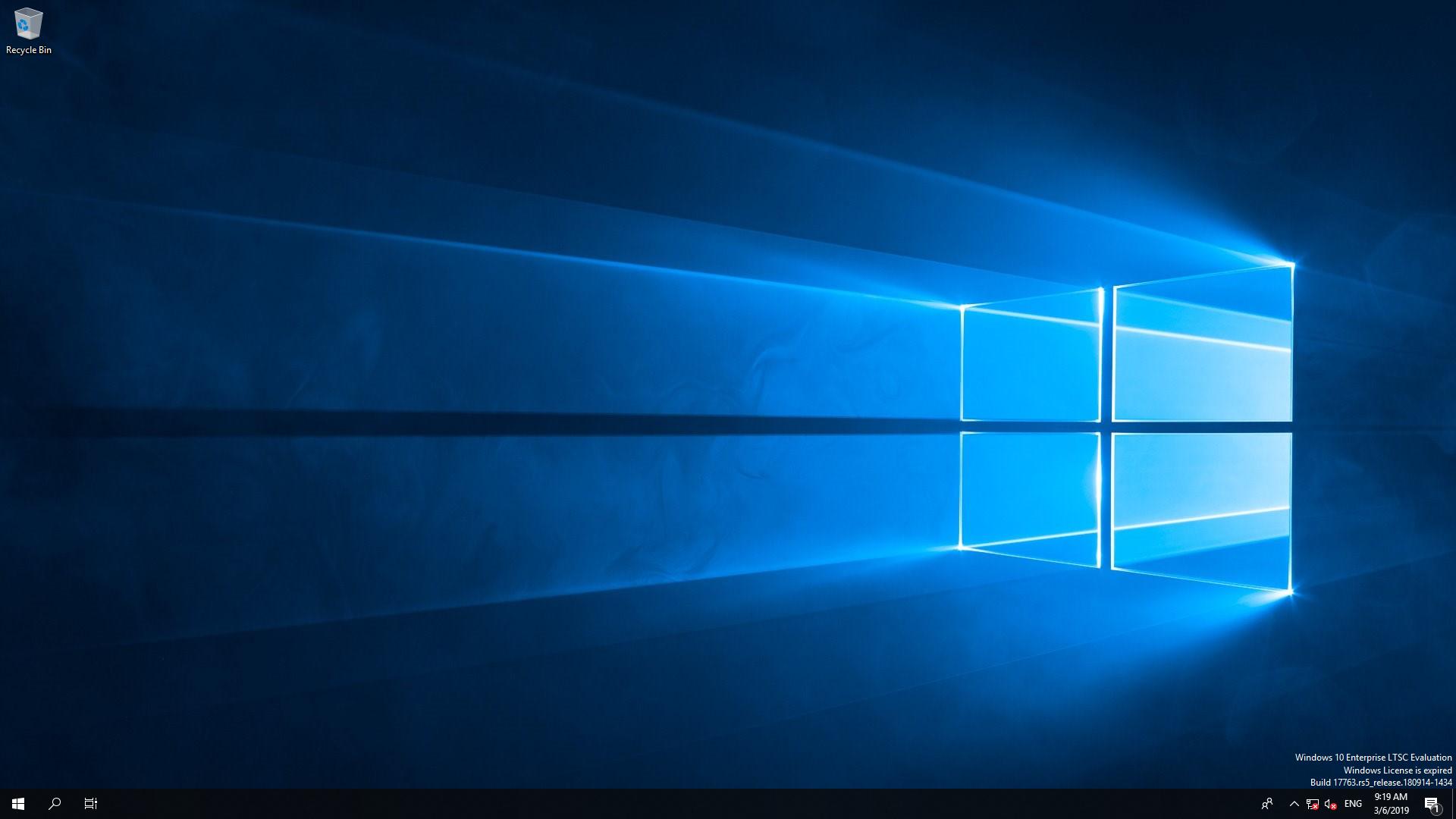 Установленный Windows 10 Enterprise LTSC x64